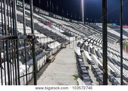 Locket At Toumba Stadium During Team Practice In Thessaloniki, Greece.