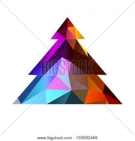 christmas tree triangle 10eps
