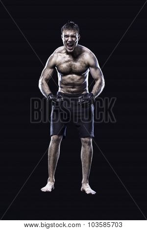 mma fighter isolated