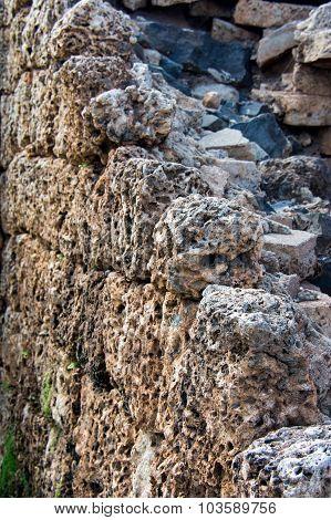 Coral Block Wall