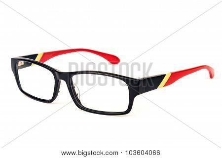 Stylish Specs Over White