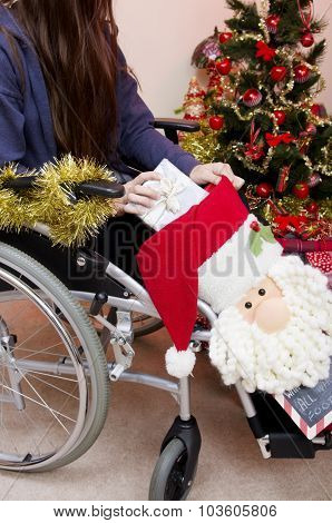 Disabled Girl at Christmas