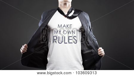Make Own Rules, Young Successful Businessman