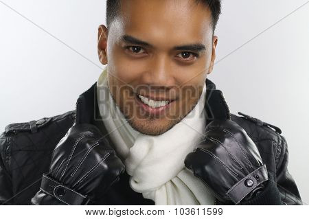winter style - handsome asian guy