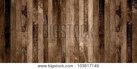 Old Grunge Interior, Wooden Background