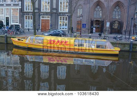 Amsterdam DHL Canal Boat
