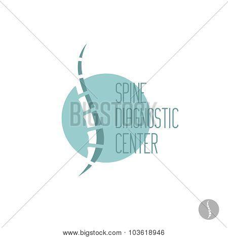 Spine Logo Template. Medical Diagnosctic, Care Sign.