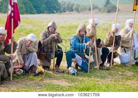 Crusader Warriors At Morning Prayer