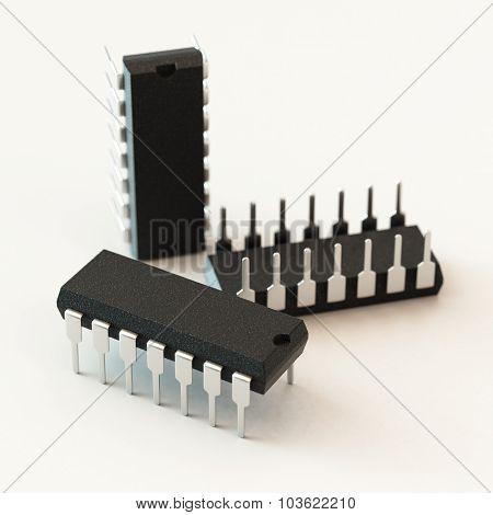 DIP chip package.