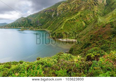 Lagoa Do Fogo, A Volcanic Lake In Sao Miguel, Azores Islands