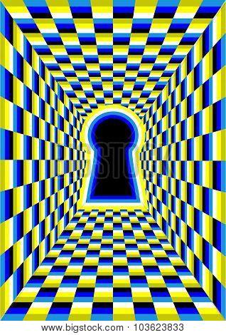 Optical Illusion With Hole
