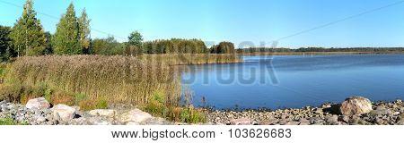 Autumn scenery panorama