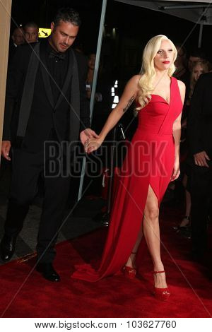 LOS ANGELES - OCT 3:  Taylor Kinney, Lady Gaga at the
