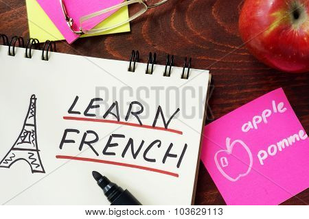 Words written learn french.