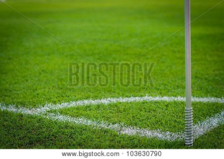 Green Grass Conner Of Football Field