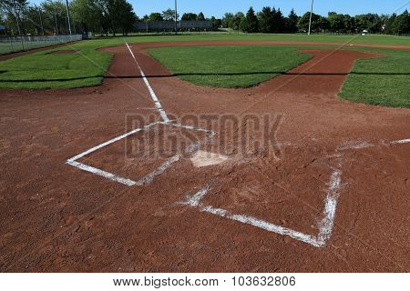 Left Side View of a Baseball Field