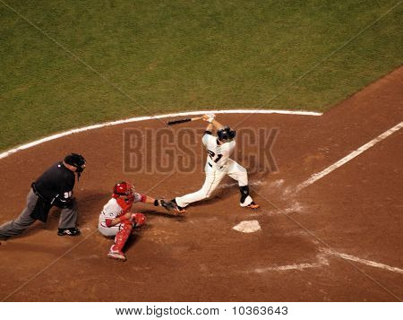Freddy Sanchez Swings For Contact In The Batters Box