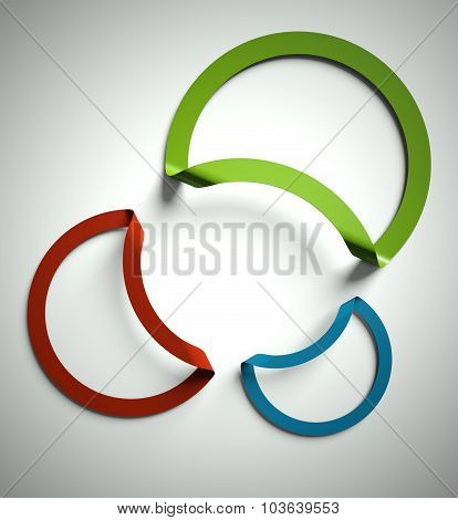 Blank Round Text Frame Cut Out In Paper, Copyspace