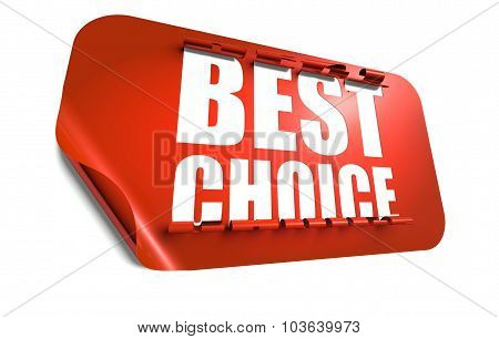 Best Choice Concept, Cut Out In Sticker
