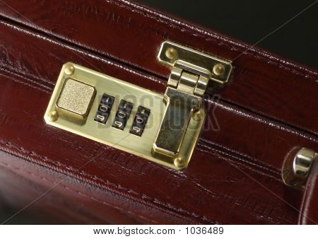 Briefcase With Closed Lock