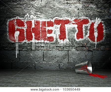 Graffiti Wall With Ghetto, Street Background