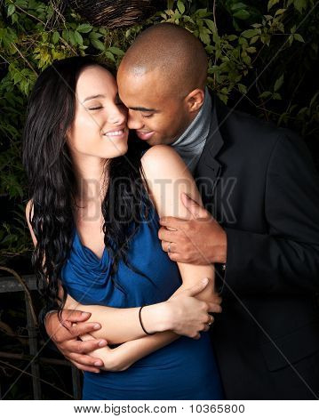 Attractive Couple Embracing