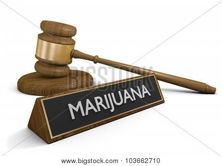 Federal and state law on marijuana drug use