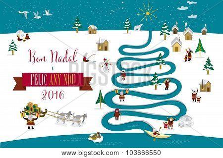 Christmas River Tree 2016 Catalan