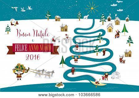 Christmas River Tree 2016 Italian