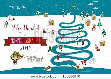 Christmas River Tree 2016 Spanish