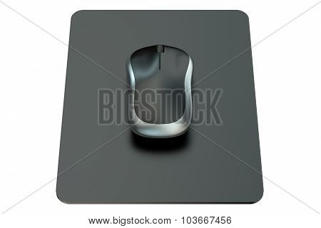 Wireless Computer Mouse On  Mouse Mat