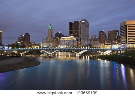 Columbus, Ohio along the Scioto river is the capital of the state.