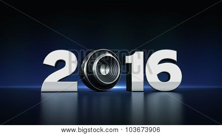 2016 text with sphere speaker 3D