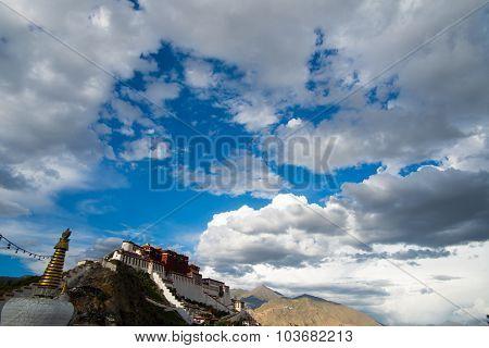 Potala palace in Lhasa, Tibet.