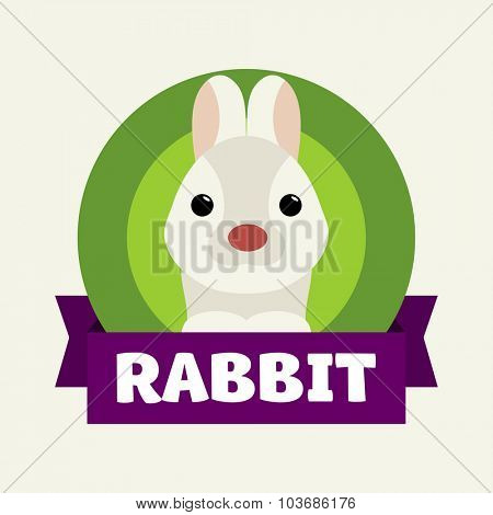 Little Rabbit. Vector illustrations