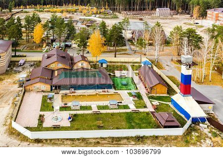 Spa sanatorium with geothermal water pool. Tyumen