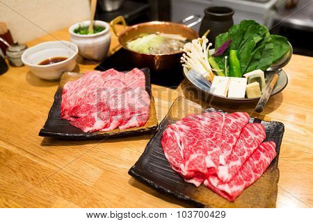 Sukiyaki Fresh Beef pork slices