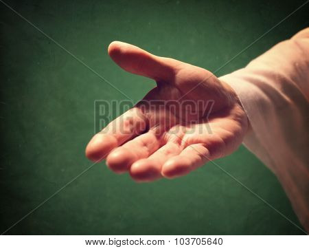 Gods hand reaching out, religion, salvation, forgiveness, assistance and love concept