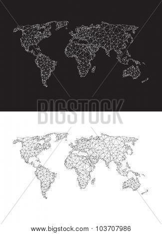 Polygonal world map easy editable