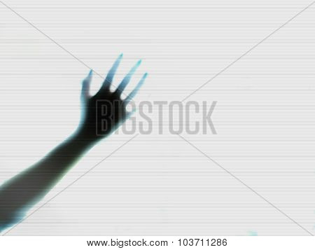 Mysterious Arm Reaching Out n TV