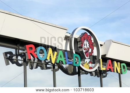 Ronald land facade at Mcdonald