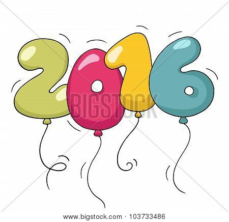 Cute Colorful Numbers For New Year Eve