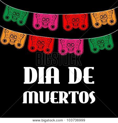 Dia de Muertos - Mexican Day of the death spanish text. decoration
