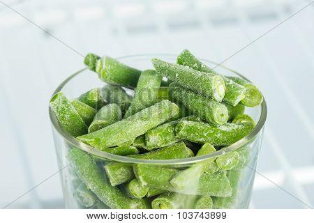 Frozen Green Beans In Freezer