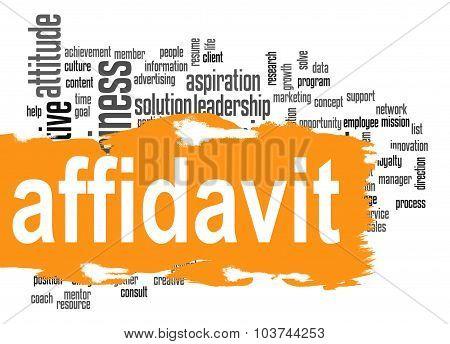 Affidavit Word Cloud