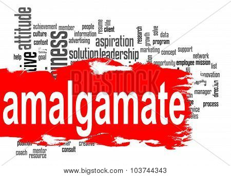 Amalgamate Word Cloud With Red Banner