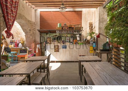 Fair trade in the Bar Mescladi in Barcelona