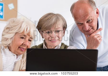 Group Of Happy Retired People