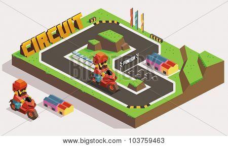 Motorway Circuit Race Track Land