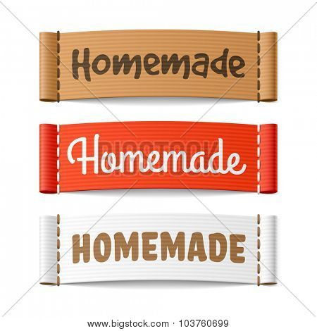 Homemade labels. Vector.